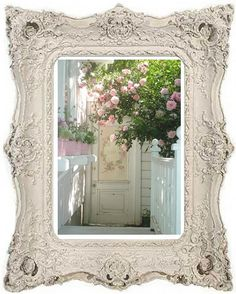 My Romantic Home and Paintings ~ Cindy Ellis Art Romantic Shabby Chic, Romantic Cottage, Romantic Homes, Shabby Chic Style, Cottage Chic, Shabby Chic Decor, Cottage Style, Vintage Decor, Vintage Pink