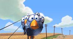 Pixar Animation Studios (Pixar) is an American computer animation film studio based in Emeryville, California. Pixar is a subsidiary of The Walt Disney Company. Funny Cartoon Pictures, 3d Cartoon, Funny Images, Cartoon Birds, Cartoon Images, Cartoon Characters, Film Gif, Film D'animation, Disney Pixar