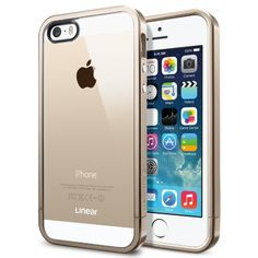 Spigen iPhone 5S Case Bumper [Linear Metal Crystal] [Champagne Gold] Free Screen Protector + Bumper Case with Clear Back Cover for iPhone 5S and iPhone 5 - Champagne Gold (SGP10615):Amazon:Cell Phones & Accessories