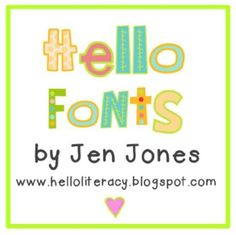 Hello Fonts - Personal & Non-Commercial Use Some pretty sweet fonts here to use in classroom applications - download, right click, install.