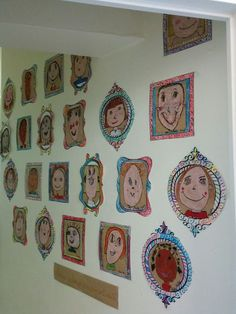 Self-portrait gallery - To create this self-portrait gallery, I was inspired by a cool idea found here. These drawings were -