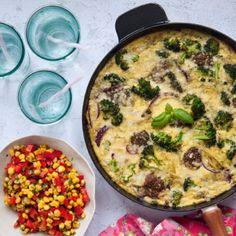 Italiensk potatisfritatta med grönsakssalsa - Recept - Tasteline.com