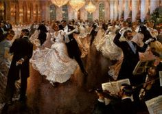 1900s waltz | early 1900s a painting called the last waltz by Vladimir Pervuninsky