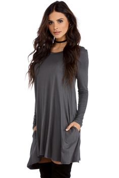 Gray Chilly Vibes Tunic | windsor
