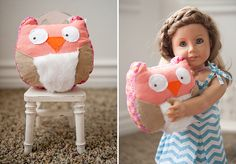 mini owl pillow for American Girl