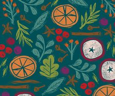 Studio SSS Food Patterns, Print Patterns, Liberty Fabric, Winter Colors, Repeating Patterns, Food Pictures, Food Art, Printing On Fabric, Beautiful Things