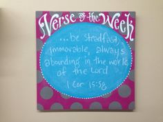 Verse of the Week Chalkboard brights and polkadots by kijsa, $28.00