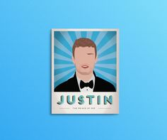 Put on your Suit and Tie and get ready to bring Sexyback, the Prince of Pop is here! Show your fandom with this minimalistic print of Justin Timberlake, part of the all-new Divo Propaganda Print series. Styled after the vintage propaganda and travel posters of yesteryear, this collectible poster is a must-have for every music and pop-culture junkie.