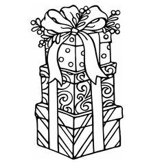 Christmas Gift Coloring Pages Sheets For Kids Image Noel Colors