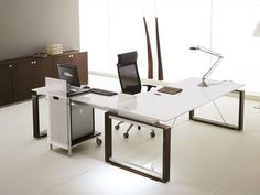 ELECTA L-shaped office desk by IFT design Nikolas Chachamis