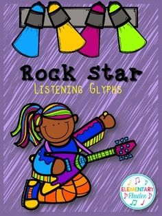 Rock Star Listening Glyphs - these generic glyphs work for any kind of music in your classroom, giving it a fun twist!