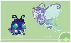 Pokemon Redesign #048-049 - Venonat, Venomoth