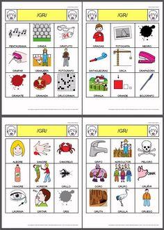 MATERIALES - Bingos de sinfones de /r/. Conjunto de bingos, elaborados con el creador de bingos, con palabras que contienen sinfones con el fonema r. http://arasaac.org/materiales.php?id_material=798
