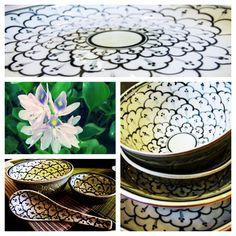 Beautiful flower patterns on our range of Artisan ceramics avaliable in store in Hanoi now! Indigenous Vietnam: 36 Au Trieu, Hoan Kiem, Hanoi