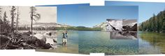 Four views from four times and one shoreline, Lake Tenaya, Mark Klett and Byron Wolfe Photography Courses, Photography Projects, Eadweard Muybridge, Design Observer, Modern Photographers, Creative Landscape, Panoramic Images, Create Photo, Ansel Adams