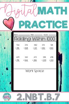 These math practice sheets allow your students to practice and gain mastery of the second grade standard 2.NBT.B.7; Add or Subtract Within 1000. Created in Google Slides, this resource can be used on a device in the classroom or at home for distance learning. These worksheets can also be used as an assessment tool so that you can move your instruction forward, tailor your students' instruction to their developmental level, provide feedback to students, and use for grading. Click to see more!