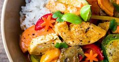 A fast and easy Thai chicken curry with coconut milk recipe loaded with exotic flavors and healthy vegetables that you can enjoy any day of the week.