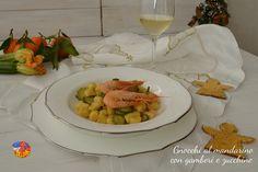 Gnocchi al mandarino con gamberi e zucchine  https://blog.giallozafferano.it/ricettecollaneepassioni/gnocchi-al-mandarino-con-gamberi-e-zucchine/