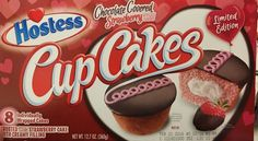 Hostess Chocolate Covered Strawberry Cupcakes 12 7oz Valentines Limited Edition | eBay