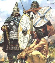 Dacian warriors, 2nd century AD ~ the were a people that lived near the Danube river and were descendants of the Thracians. art by Angus McBride.