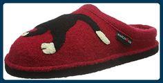 Haflinger Unisex-Erwachsene Babsy Pantoffeln, Rot (Ziegelrot 85), 37 EU - Hausschuhe für frauen (*Partner-Link)