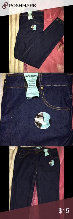 Brand new jeans NWT this has tags but not original price tags. Never been worn. Blue jeans. Size 8 pants please know the top of the pants is smaller fitting pic shows with tags. Slim fabulouse  Jeans Skinny