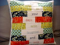 the Words to Live by Pillow