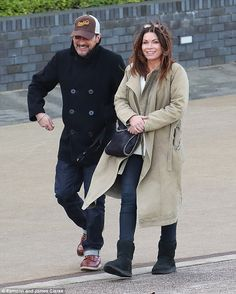 Reunion: Alison King, was spotted rehearsing her scripts with former on-screen flame Chris Gascoyne, who plays Peter Barlow on the soap on Thursday afternoon Chris Read, Carla Connor, Coronation Street Cast, Alison King, Thursday Afternoon, Old Actress, Beautiful Person, Scripts, Old And New