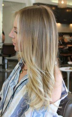 Blonde ombre: dark blonde to platinum