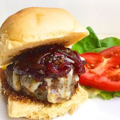 Fact: Burgers are better with sweet-and-tangy onions glazed in balsamic vinegar. Get the Recipe: Rosemary Garlic Burger with Gruyere and Balsamic-Glazed Onions   - Delish.com
