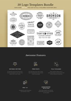 50 Logo Templates Bundle by GraphicBurger on Creative Market