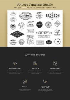 50 Logo Templates Bundle by GraphicBurger on Creative Market