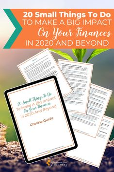 Ready to make a huge impact on your finances for 2020 and beyond? Use this checklist of 20 small things you can do to change your finances for the better this year to reach your financial goals. Save Money On Groceries, Ways To Save Money, Money Tips, Money Saving Tips, Budgeting Finances, Budgeting Tips, Paying Off Student Loans, Paying Off Credit Cards, Budget Planer