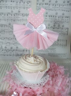 Party Dress Cupcake Toppers for Ballet or Princess by JeanKnee