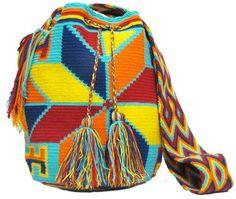 Colorfull Mochila Bags - comprar online Tribal Bags, Bucket Bag, Crochet, Fashion, Shopping, Bags, Crochet Hooks, Moda, Fashion Styles