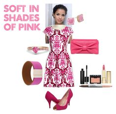 """""""Soft in Shades of Pink"""" by classic-erynn on Polyvore featuring RED Valentino, Kate Spade, Salvatore Ferragamo, Clinique, NARS Cosmetics, Christian Dior, Dolce&Gabbana and gugumbatharaw"""