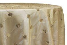 Sequin Embroidery Taffeta Table Linens - Plum