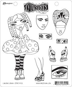 dyan reaveley art | Dyan Reaveley's Dylusions Cling Stamp Collection Curious Corrin | eBay