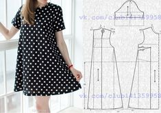 Simple A Line Dress Pattern Free - Diy Crafts - Marecipe Dress Sewing Patterns, Sewing Patterns Free, Clothing Patterns, Floral Plus Size Dresses, Simple Dresses, Casual Dresses, Fashion Sewing, Diy Fashion, Sewing Clothes