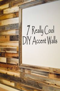 7 DIY Accent Walls that don't include painting.