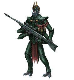 Shobhad Warleader Soldier - Starfinder RPG (Alien Archive art)