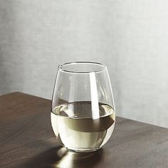 Crate and Barrel- Stemless Wine Glass 11.75 oz. (6)-Chris