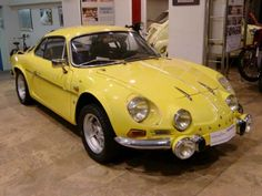 Renault Alpine A110 - yellow car