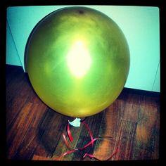 palloncino alle 6 del mattino, l'elio si è appesantito