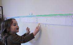 Imprimible gratuito: Calendario lineal anual. Perfecto para introducir el paso del tiempo, las estaciones, los meses… Adopta ideas tanto del método Montessori cómo de pedagogía Waldorf