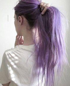 Lavender purple ponytail,fashion hairstyle~