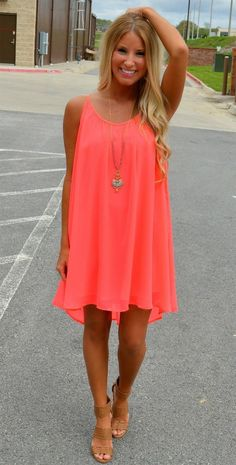 Peach Chiffon Beach Dress