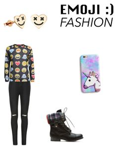 """""""Emoji Fashion"""" by katmccreery ❤ liked on Polyvore featuring Ally Fashion and Pilot"""