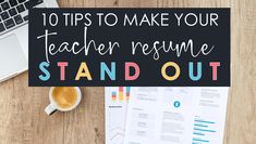 How to create a teacher resume: 10 tips to make a visually appealing resume that stands out. Resume examples, word choice help, templates, and more. Writing A Cover Letter, Cover Letter For Resume, Teacher Introduction Letter, Life After High School, Writing A Persuasive Essay, 8th Grade Ela, Teaching Positions, Teaching Philosophy, Classroom Tools