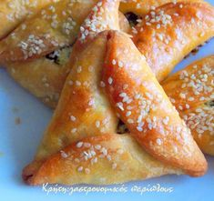 Greek Pastries, Bread And Pastries, Jewish Recipes, Greek Recipes, Sausage Roll Pastry, Greek Appetizers, Greek Sweets, Greek Cooking, Greek Dishes